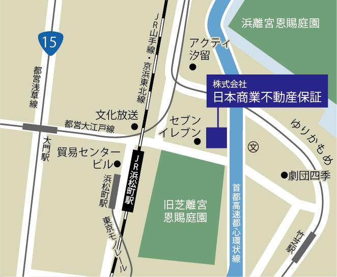 日本商業不動産保証 地図